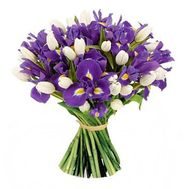 """51 iris and tulip"" in the online flower shop roza.od.ua"