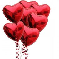 7 heart shaped balloons - flowers and bouquets on roza.od.ua