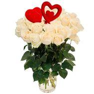 Белые розы на Валентина - цветы и букеты на roza.od.ua