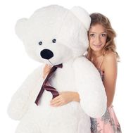 """White bear 1.2 m"" in the online flower shop roza.od.ua"