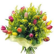 """Large bouquet with mimosa"" in the online flower shop roza.od.ua"