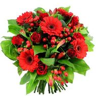 Bouquet of roses, gerberas and alstroemerias - flowers and bouquets on roza.od.ua