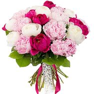 """Bouquet of 21 pions"" in the online flower shop roza.od.ua"