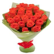 Bouquet of 25 orange roses - flowers and bouquets on roza.od.ua