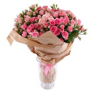 Bouquet of 35 bush roses - flowers and bouquets on roza.od.ua