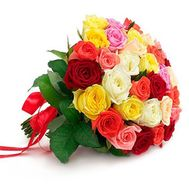 Bouquet of different color roses - flowers and bouquets on roza.od.ua