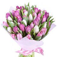 Букет из 51 тюльпана - цветы и букеты на roza.od.ua