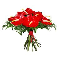 Bouquet with anthurium - flowers and bouquets on roza.od.ua