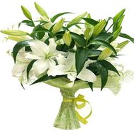 7 white lilies - flowers and bouquets on roza.od.ua