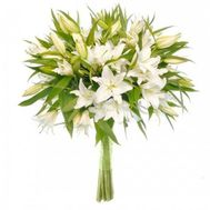 11 white lilies - flowers and bouquets on roza.od.ua