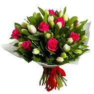 Букет из роз и тюльпанов - цветы и букеты на roza.od.ua