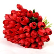 """Bouquet of red tulips"" in the online flower shop roza.od.ua"