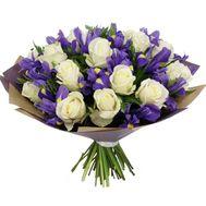 Букет роз и ирисов - цветы и букеты на roza.od.ua