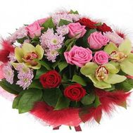 Bouquet with orchids - flowers and bouquets on roza.od.ua