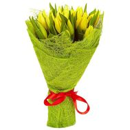 Bouquet of yellow tulips - flowers and bouquets on roza.od.ua