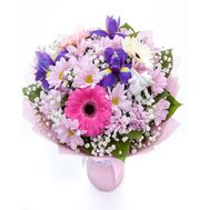 Bouquet with irises - flowers and bouquets on roza.od.ua