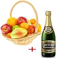 Fruit with champagne - flowers and bouquets on roza.od.ua