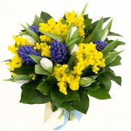 Hyacinths and mimosa - flowers and bouquets on roza.od.ua