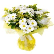 """Chrysanthemum and mimosa"" in the online flower shop roza.od.ua"