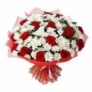 Хризантемы и розы - цветы и букеты на roza.od.ua