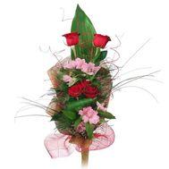 Букет из роз и альстромерий - цветы и букеты на roza.od.ua