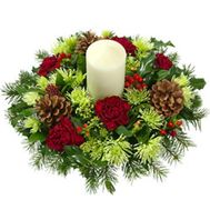 Composition for Christmas - flowers and bouquets on roza.od.ua