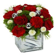 """Composition for the New Year"" in the online flower shop roza.od.ua"