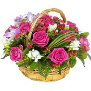 Basket of flowers - flowers and bouquets on roza.od.ua