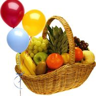 Fruit basket with balls - flowers and bouquets on roza.od.ua