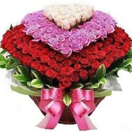 Basket of 501 roses - flowers and bouquets on roza.od.ua