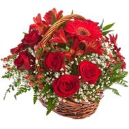 Basket of roses - flowers and bouquets on roza.od.ua