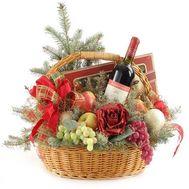 Корзина к Новому году - цветы и букеты на roza.od.ua