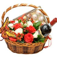 Basket with flowers and sweets - flowers and bouquets on roza.od.ua