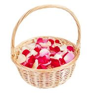 Basket with rose petals - flowers and bouquets on roza.od.ua