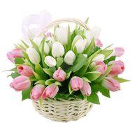 Корзина с тюльпанами - цветы и букеты на roza.od.ua