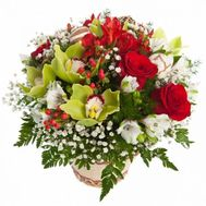"""Basket with roses and orchids"" in the online flower shop roza.od.ua"