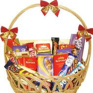 Chocolate basket - flowers and bouquets on roza.od.ua