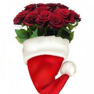 """Red roses from Santa Claus"" in the online flower shop roza.od.ua"