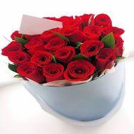 Красные розы в коробке - цветы и букеты на roza.od.ua