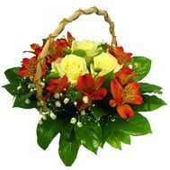 """A small basket of flowers"" in the online flower shop roza.od.ua"