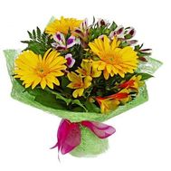 Bouquet of gerberas and alstroemerias - flowers and bouquets on roza.od.ua
