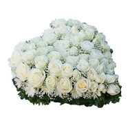 Нежное сердце - цветы и букеты на roza.od.ua