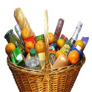 Christmas basket with tangerines - flowers and bouquets on roza.od.ua
