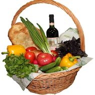 Grocery basket - flowers and bouquets on roza.od.ua