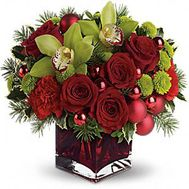 Christmas composition - flowers and bouquets on roza.od.ua