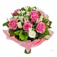 Bouquet of lilies and roses - flowers and bouquets on roza.od.ua