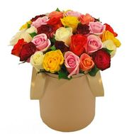 Roses in a Hat Box - flowers and bouquets on roza.od.ua