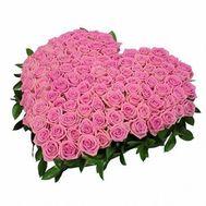 Сердце из 101 розы - цветы и букеты на roza.od.ua