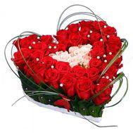 Сердце на Валентина - цветы и букеты на roza.od.ua
