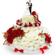Wedding cake from flowers - flowers and bouquets on roza.od.ua